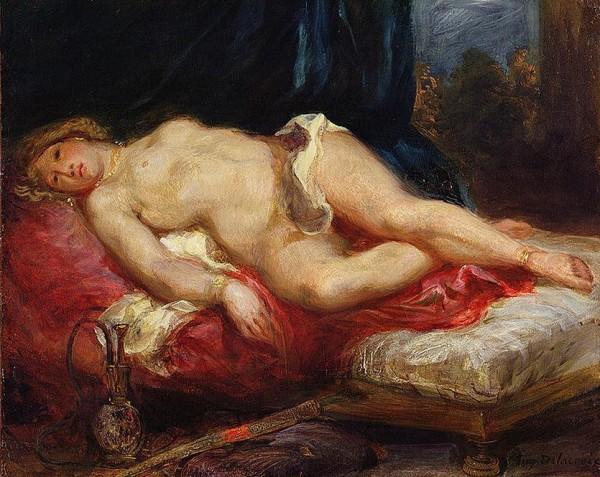 Eugène Delacroix (1798-1863)   –  Odalisca sobre el divan