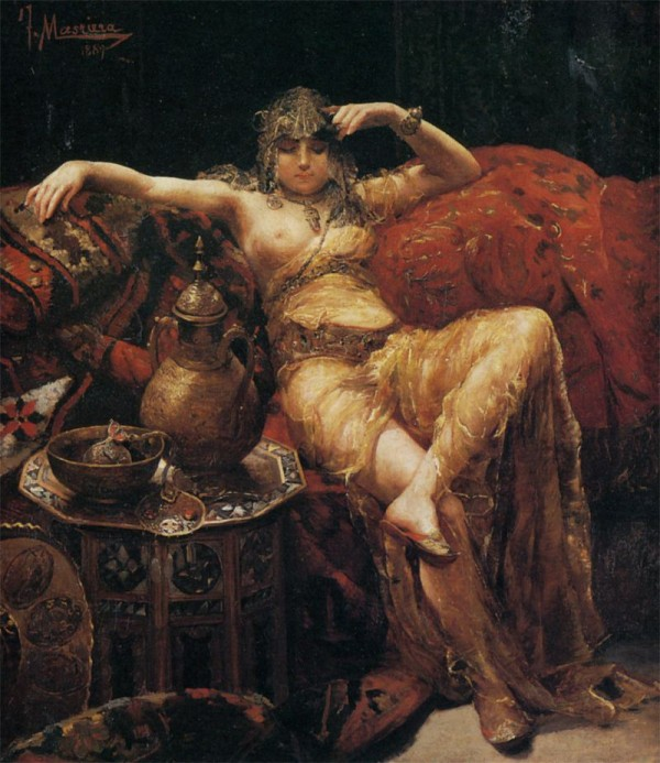 Francisco Masriera y Manovens – (1842-1902)  – The Harem Beauty
