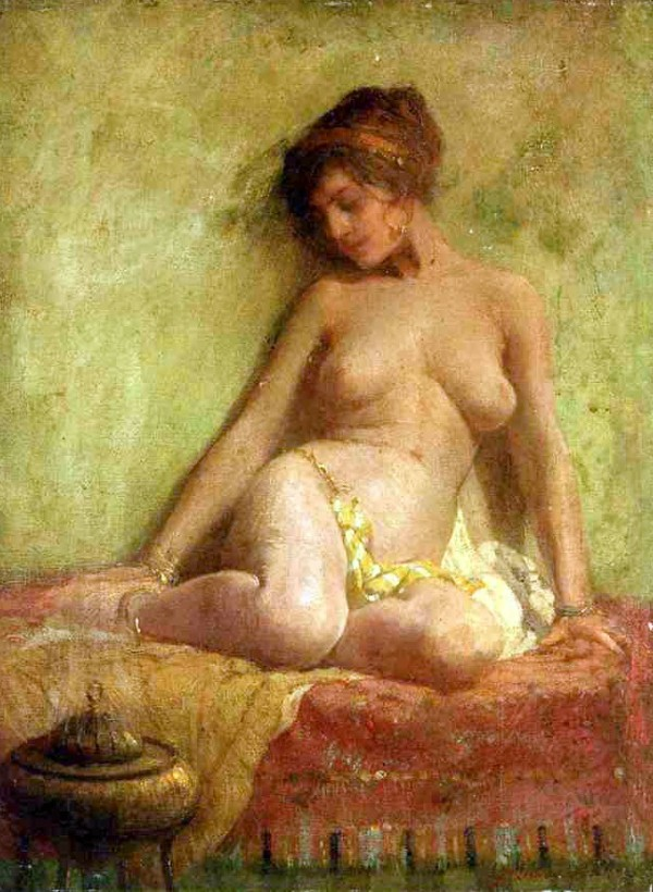 Frederick Mulhaupt (1871-1938)  -  A Doughter of the Orient