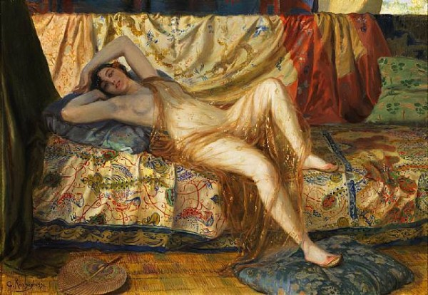 Georges Antoine Rochegrosse (1859-1938) –  Reclining Beauty