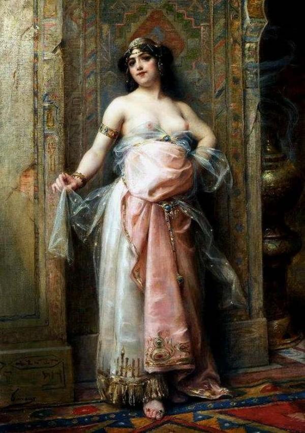 Henri Adrien Tanoux (1865-1923)  -  La Belle Esclave du Harem