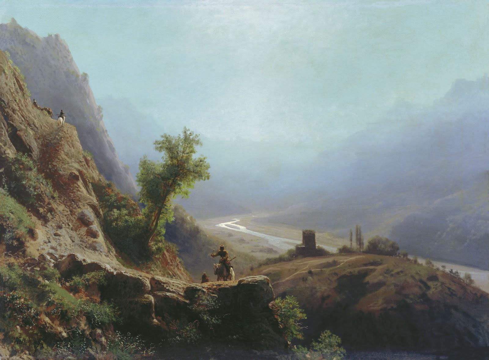Lev Lagorio - In the Caucasus Mountains