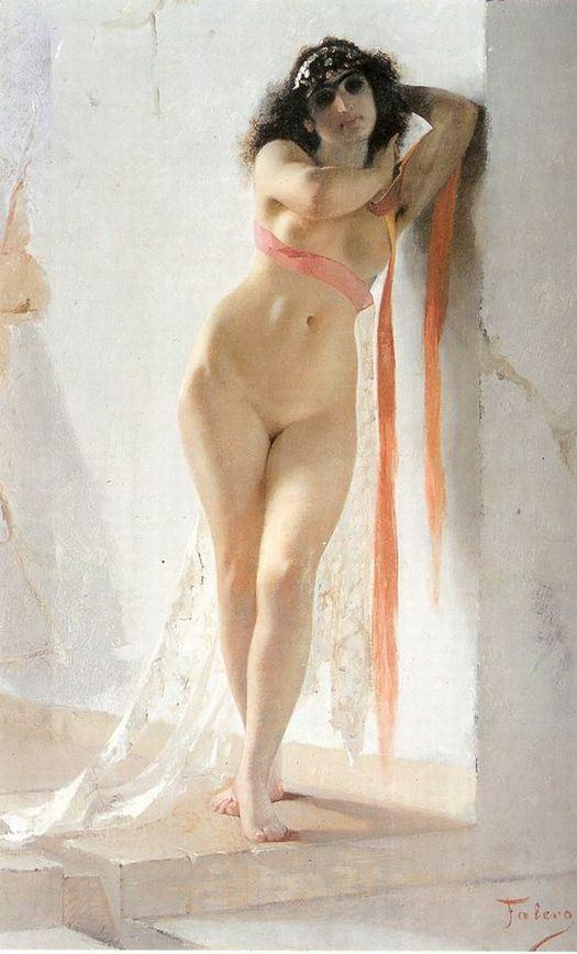 Luis Ricardo Falero (1851 - 1896)  -  A Naked Oriental Woman