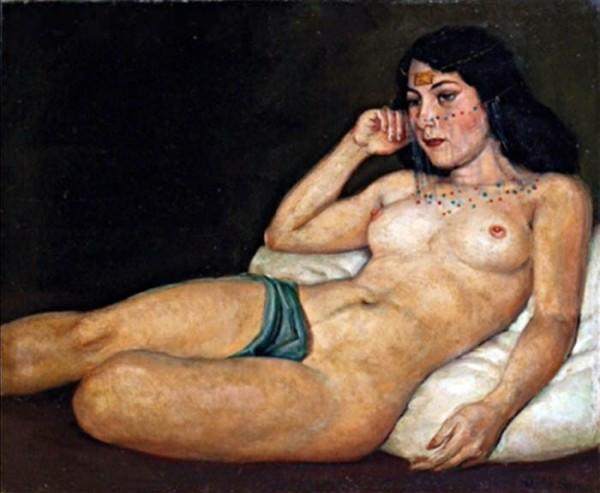 Oscar Pereira da Silva (1867 - 1939) -  Odalisque alanguie