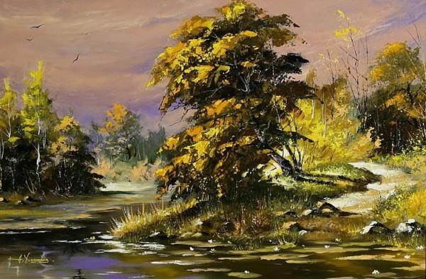 alexander-hodukov-peisaj-copac-rau