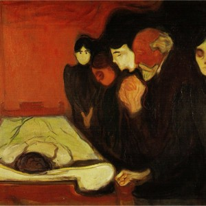 edvard-munch -the-death-bed
