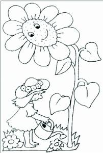 planșă de colorat - flori